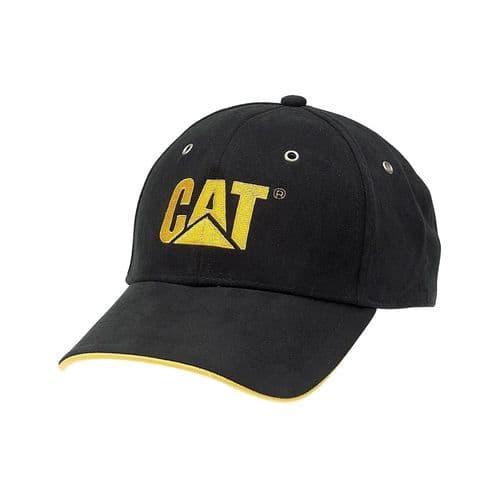 Caterpillar Trademark Microsuede Cap Headwear Black